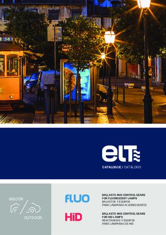 ELT - Catálogo Balastros y Reactancias