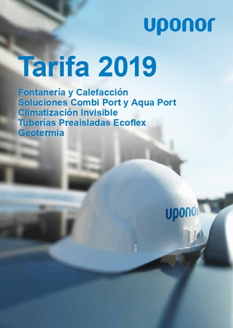 UPONOR - Catálogo-Tarifa 2019