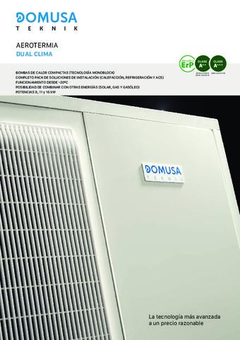 DOMUSA TEKNIK - Catálogo Dual Clima+Fusión