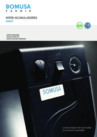 DOMUSA TEKNIK - Catálogo Sanit