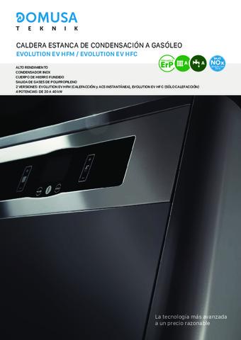 DOMUSA TEKNIK - Díptico Evolution EV HFM - HFC