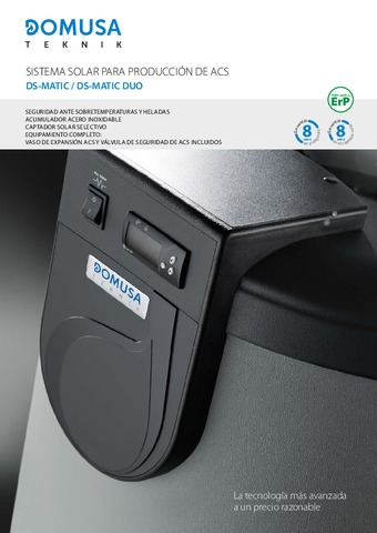 DOMUSA TEKNIK - Díptico DS Matic + Ds Matic Duo