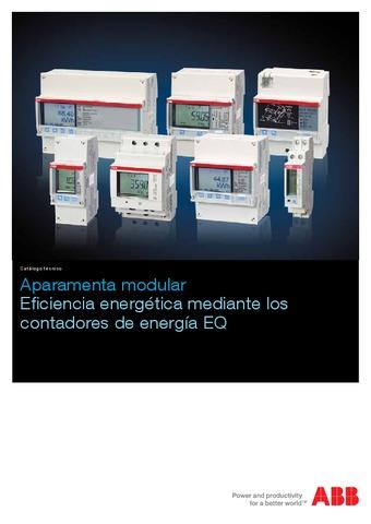 ABB - Catálogo Aparamenta modular eficiencia energética mediante contadores de energía eq