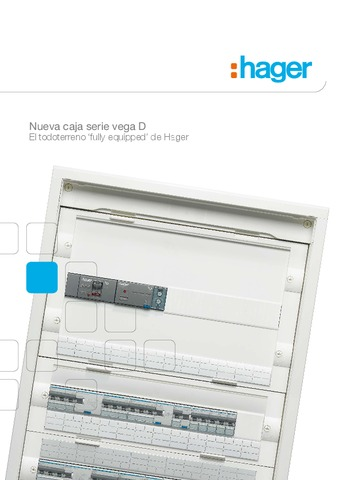 HAGER - Caja serie vega D
