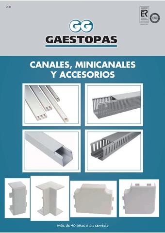 GAESTOPAS - Catálogo Canales minicanales y accesorios