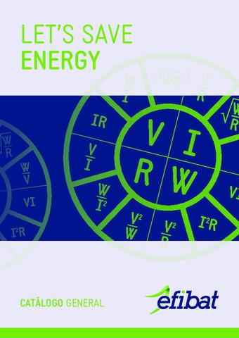 EFIBAT - Catálogo Energía reactiva