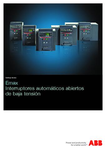 ABB  - Catálogo Emax interruptores automáticos abiertos de baja tensión