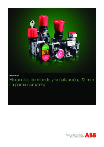 ABB  - Catálogo Mando y señalización 22mm gama completa