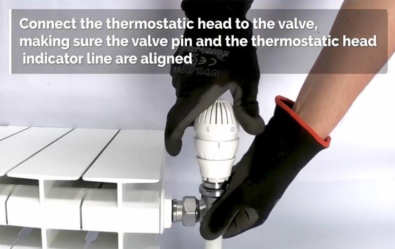 Cómo instalar cabezales termostáticos con conexión clip