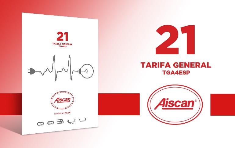 Nueva tarifa de Aiscan 2021