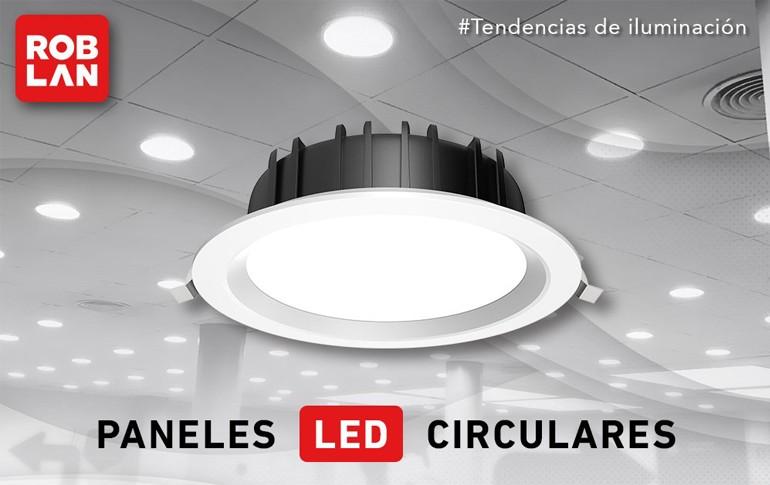 Paneles LED circulares de ROBLAN