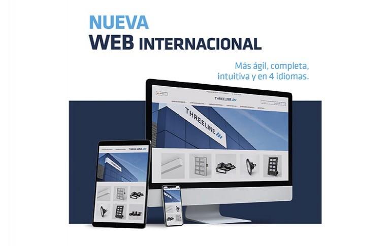 Threeline estrena su nueva web internacional