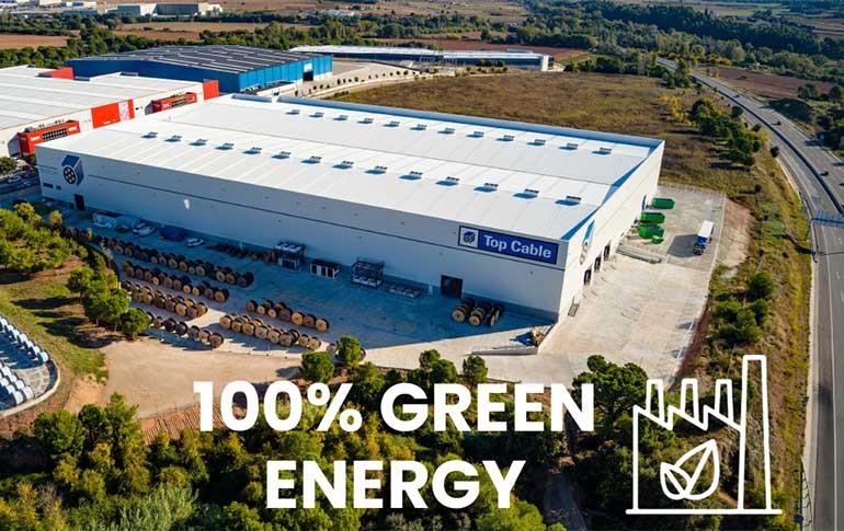 Top Cable emplea energía 100% verde
