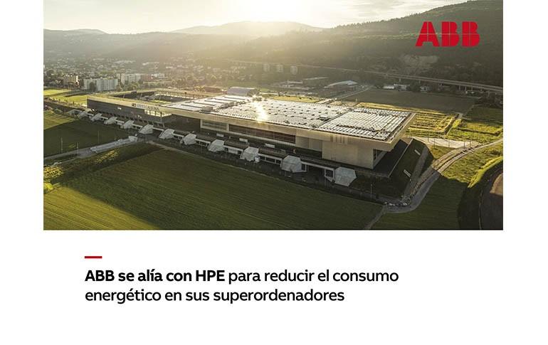 ABB se une a HPE para reducir el consumo de sus superordenadores