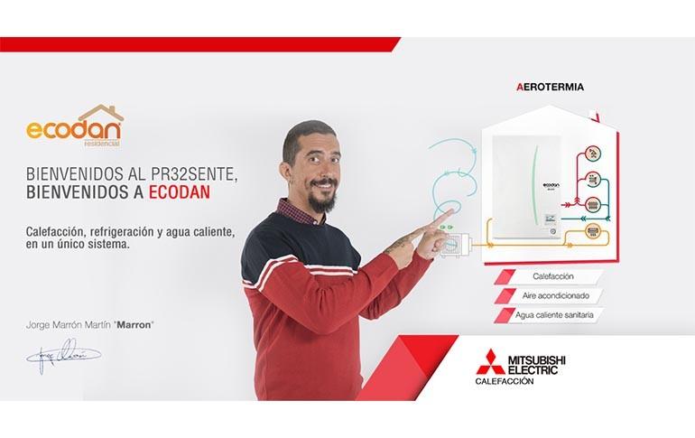 Nueva app de Mitsubishi Electric para conocer el ahorro energético con ECODAN