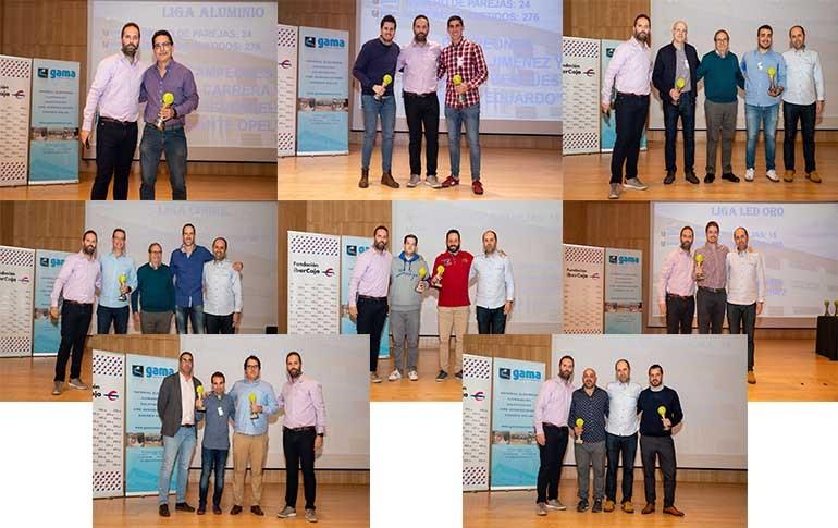 Entrega de premios de la Liga de Pádel Gama Comercial