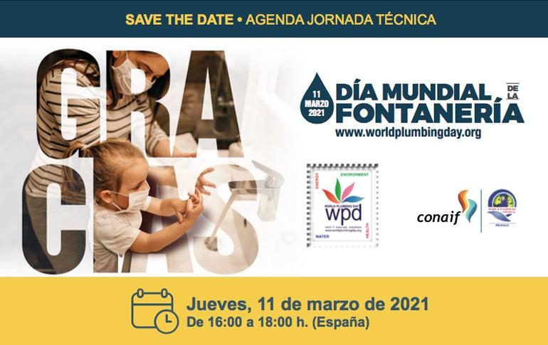 """Jornada online para fontaneros - 11 de marzo """"Día Mundial de la Fontanería"""""""