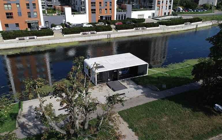 Tecnología para hogares ABB en un apartamento flotante