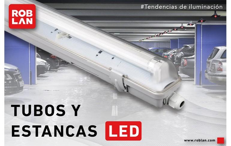 Iluminar con tubos y lámparas estancas LED