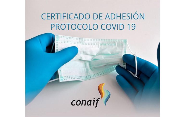 Certificado de CONAIF para empresas instaladoras  comprometidas frente al coronavirus