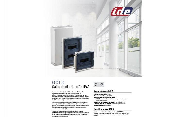 Nuevo catálogo Serie Gold de IDE