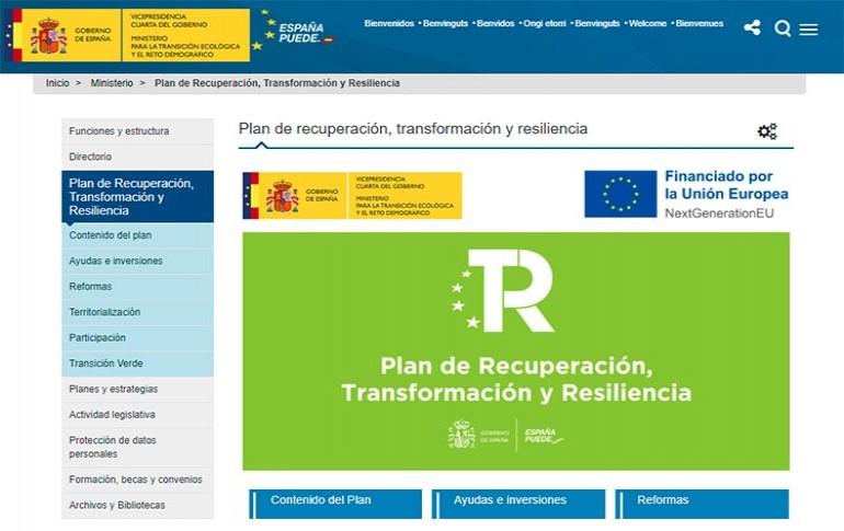 MITECO presenta una web con información del Plan de Recuperación