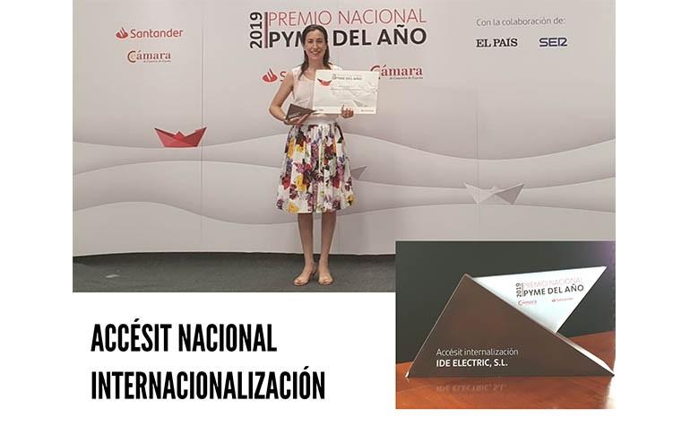 IDE Gana el Premio Nacional Pyme 2019 en la categoría de Internacionalización