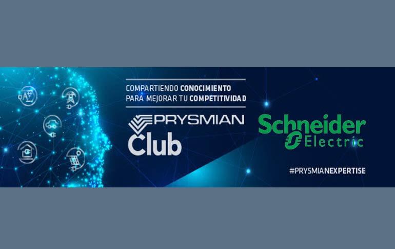 Prysmian Club incluye contenido de aparamenta con Schneider
