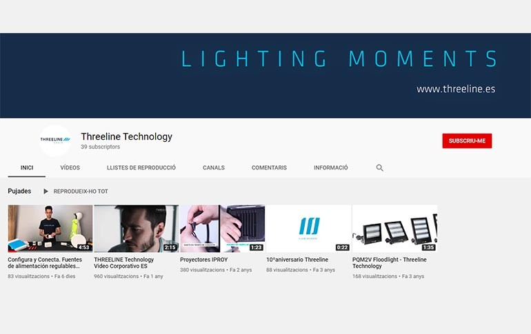 Threeline nos presenta su renovado canal de YouTube