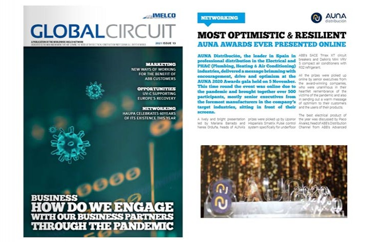 Aúna en la revista Global Circuit de IMELCO