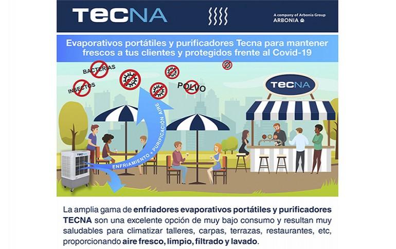 Evaporativos portátiles y purificadores de TECNA
