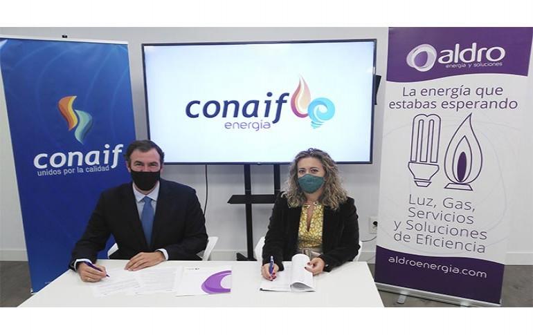 """Conaif firma un acuerdo con Aldro bajo la nueva marca """"Conaif Energía"""""""
