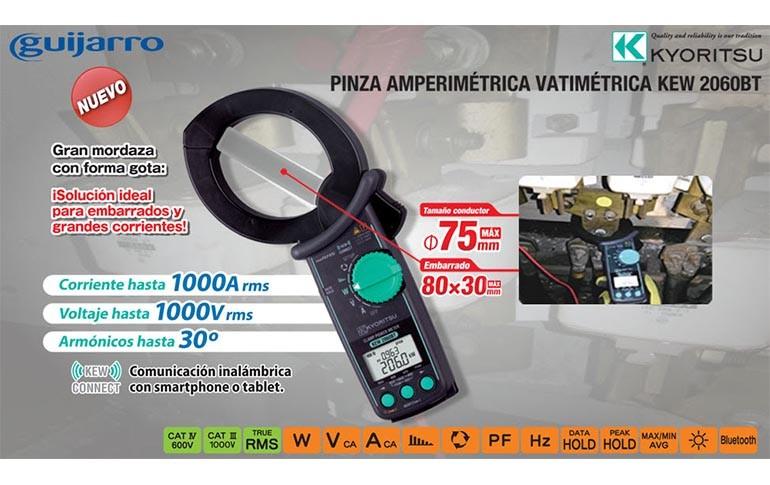 Nueva pinza amperimétrica de KYORITSU en Guijarro