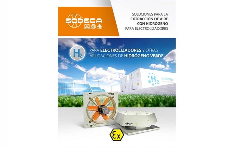 Soluciones Sodeca para la extracción de aire con hidrógeno para electrolizadores