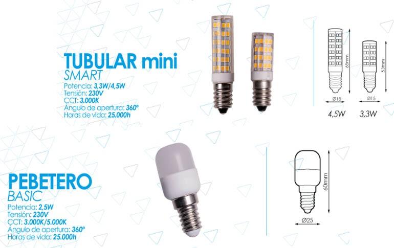 Nuevas lámparas Tubular Mini Smart y Pebetero Basic de Prilux