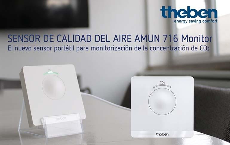Nuevo sensor de calidad del aire interior de Theben