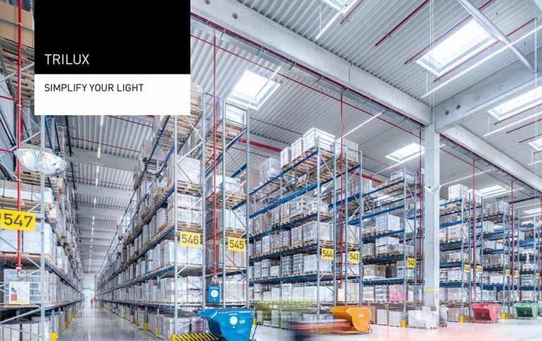 Espacios de trabajo industrial: El nuevo catálogo de TRILUX
