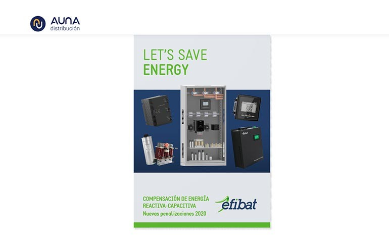 Nuevo catálogo de Efibat compensación energía reactiva-capacitiva