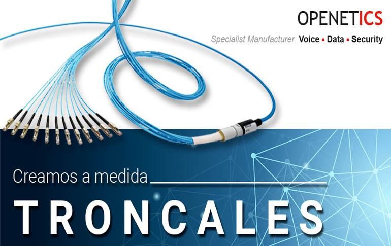 Cables Openetics troncales preconectorizados de fibra óptica a medida