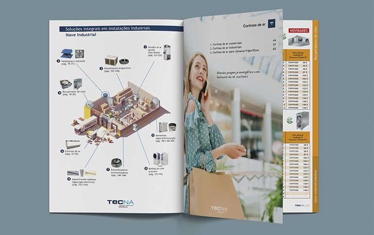 Nueva Tarifa Catálogo 2020/2021 de Tecna en portugués