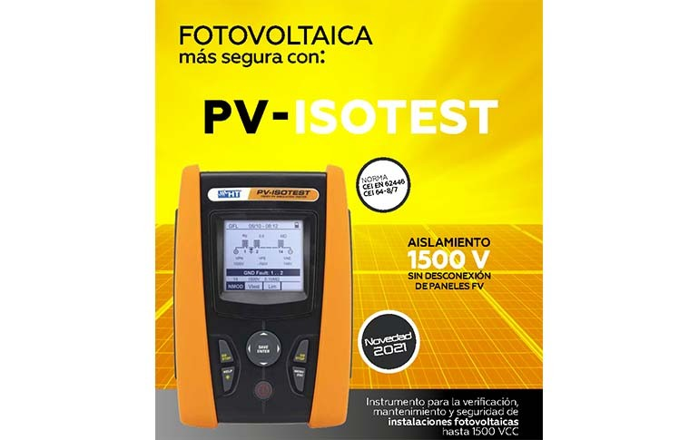 Nuevo PV-ISOTEST de HT Instruments