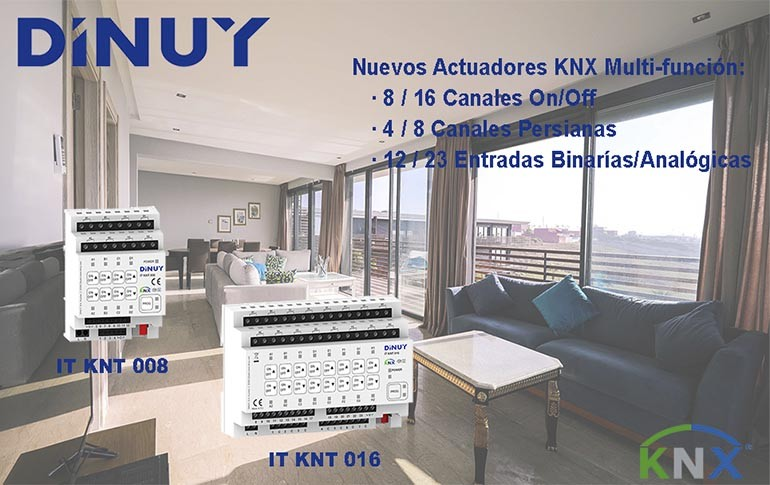Nuevos Actuadores KNX Multifunción de Dinuy