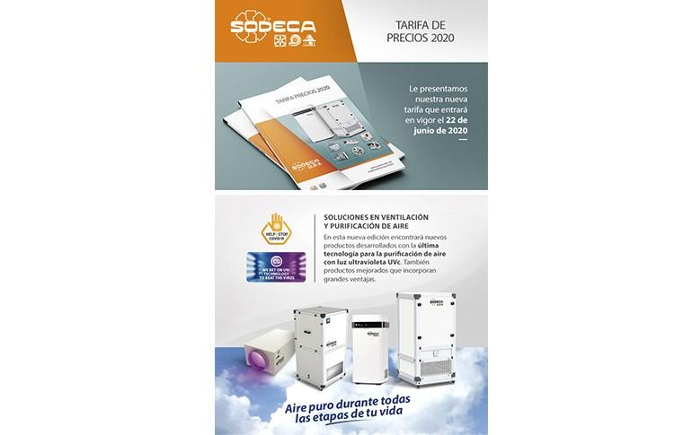 Nueva tarifa 2020 de Sodeca