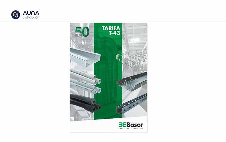 Actualización de la tarifa T43 de Basor Electric