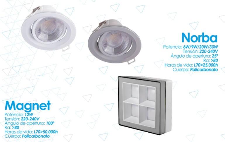 Nuevos downlights Magnet y Norba de Prilux