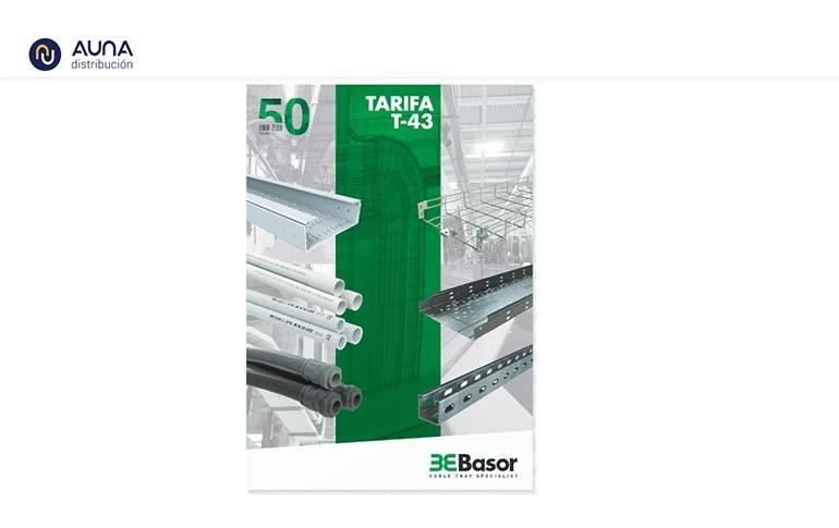 Nueva tarifa de precios T43 de Basor Electric
