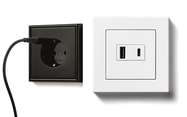 Nuevos enchufes SCHUKO® con cargador USB y Quick Charge de Jung