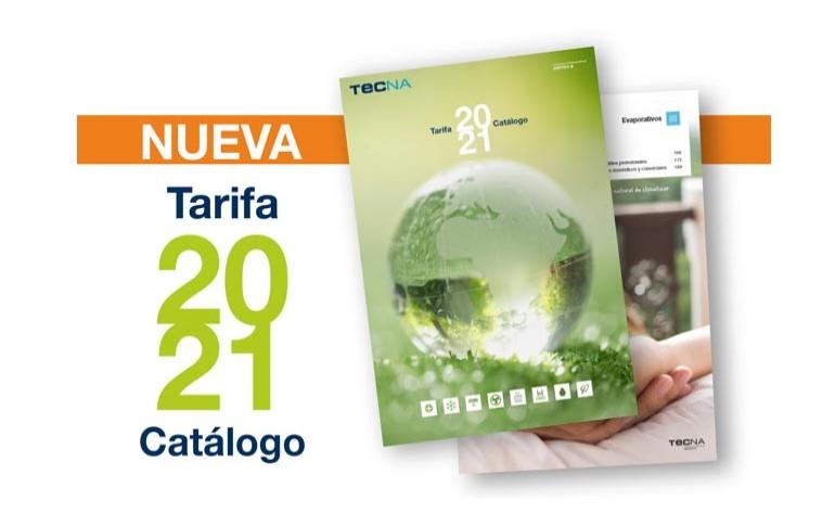 Nueva tarifa TECNA 2020/2021
