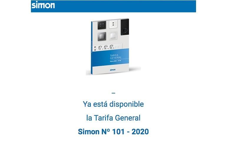 Nueva tarifa de Simon para 2020