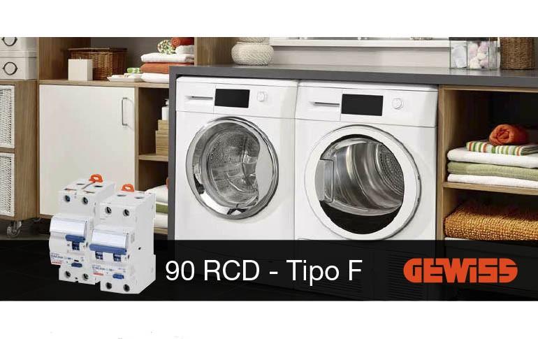 Nueva gama de diferenciales 90 RCD Tipo F de Gewiss